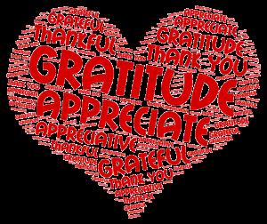 gratitude word cloud - gratitude, appreciation, thankful, appreciate, thank you