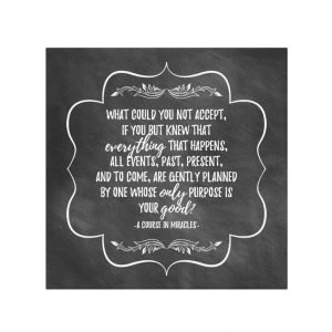 A Course in Miracles Inspirational Quote Wall Art Canvas