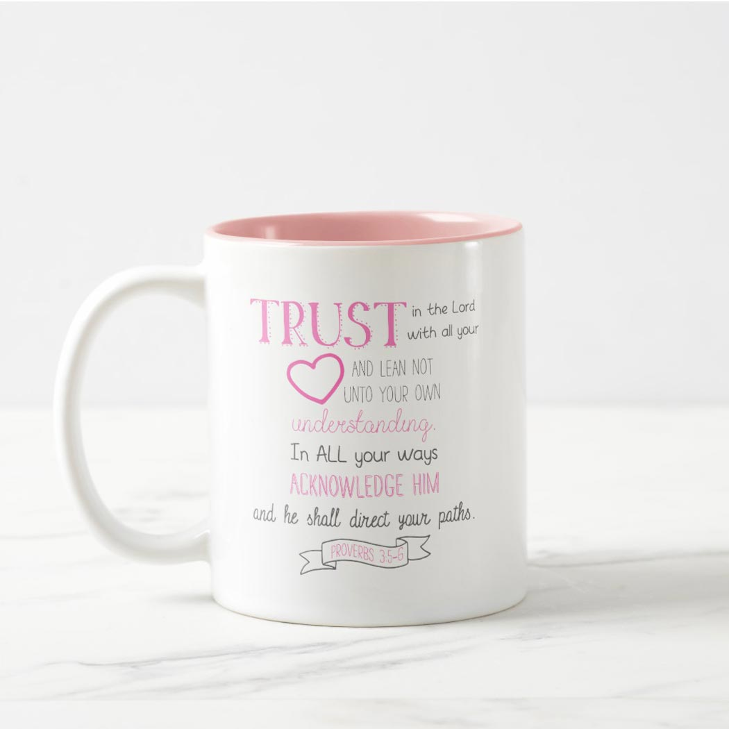 Bible Verse Mug Proverbs 3 5 6 Sumaiya Wood