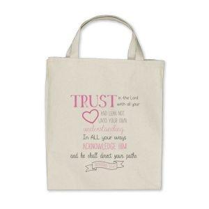 Bible Verse Tote Bag Proverbs 3:5-6