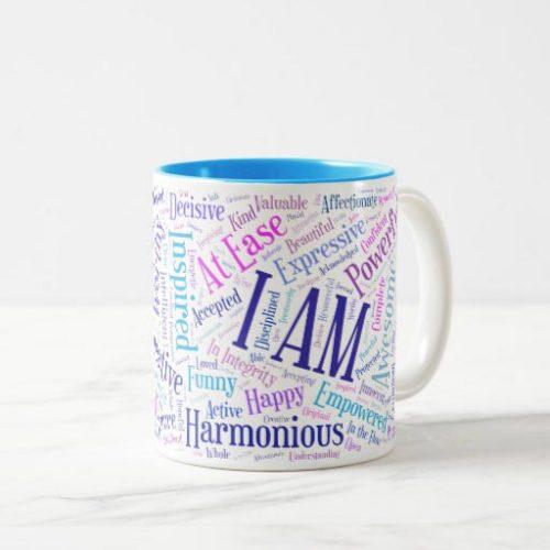 Colorful I Am affirmations mug