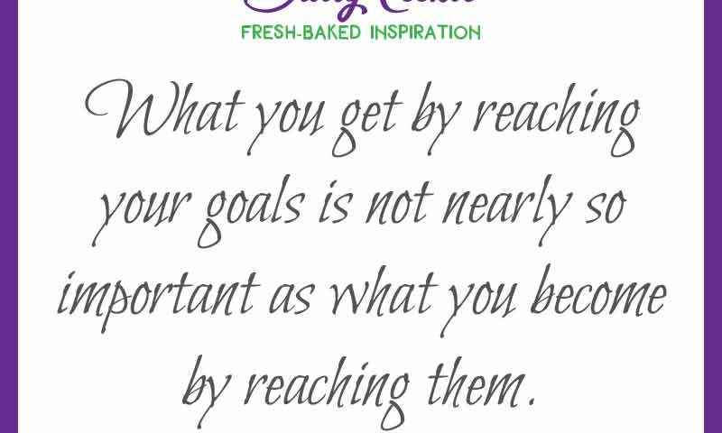 """Inspiring quote from Zig Ziglar: """"What you get by reaching your goals is not nearly so important as what you become by reaching them."""""""