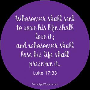 "Bible Metaphysics: ""Whosoever shall seek to save his life shall lose it; and whosoever shall lose his life shall preserve it."" ~Luke 17:33"